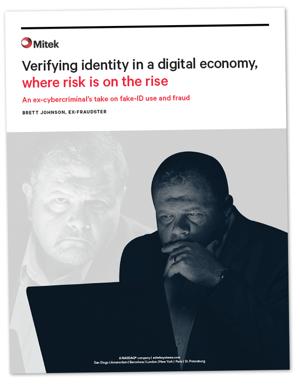 Cover Mitek White Paper Identity Verification Brett Johnson