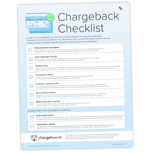 Sift-Science-Chargeback-Checklist